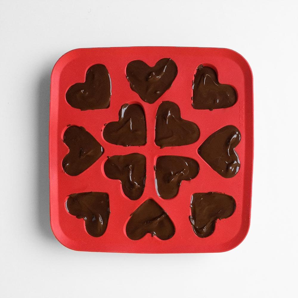 Temni čokoladni srčki