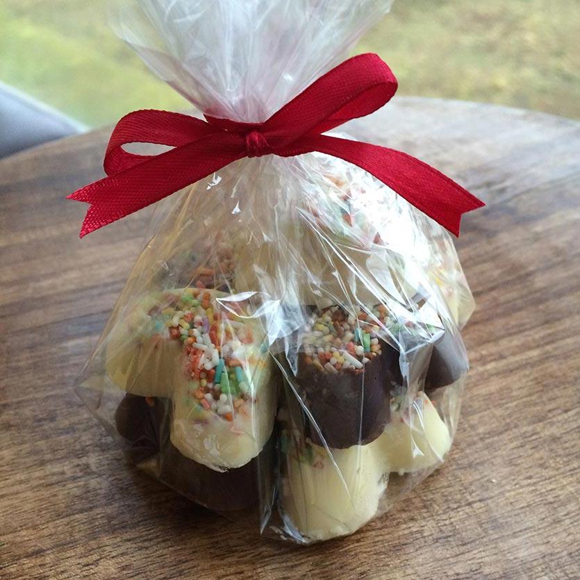 Čokoladni srčki - primer darila 1