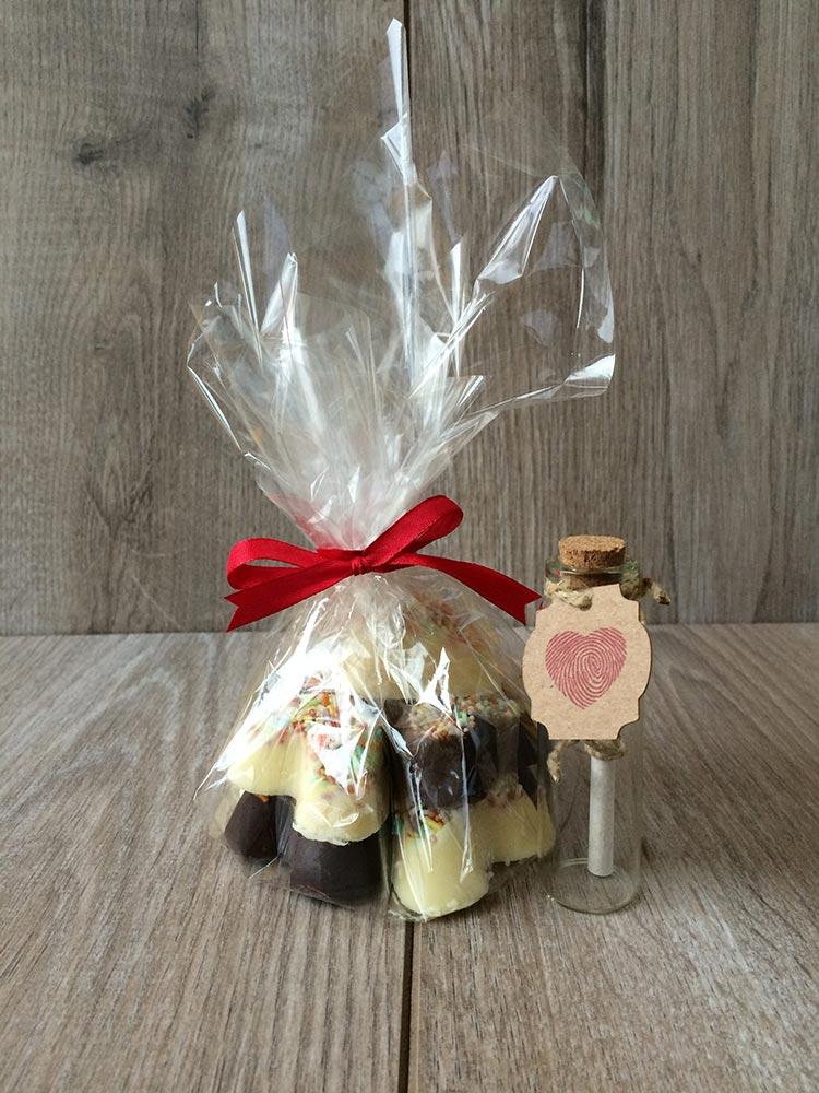 Čokoladni srčki - primer darila 2