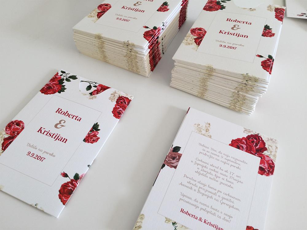 Poročno vabilo: Rdeče vrtnice – 2