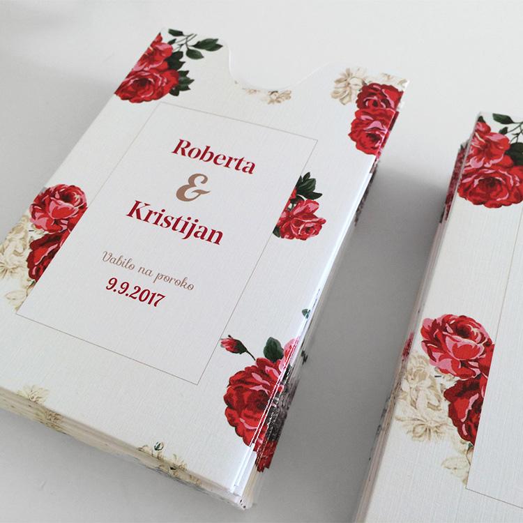 Poročno vabilo: Rdeče vrtnice