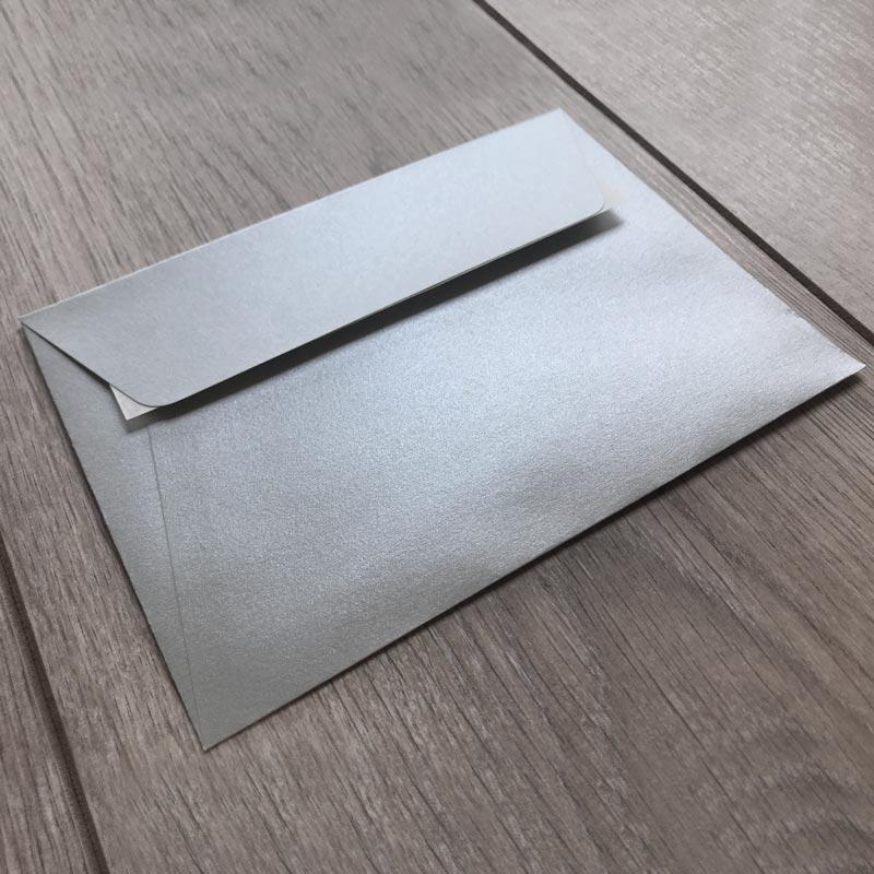 Kuverte za vabila - srebrne - 16x11cm
