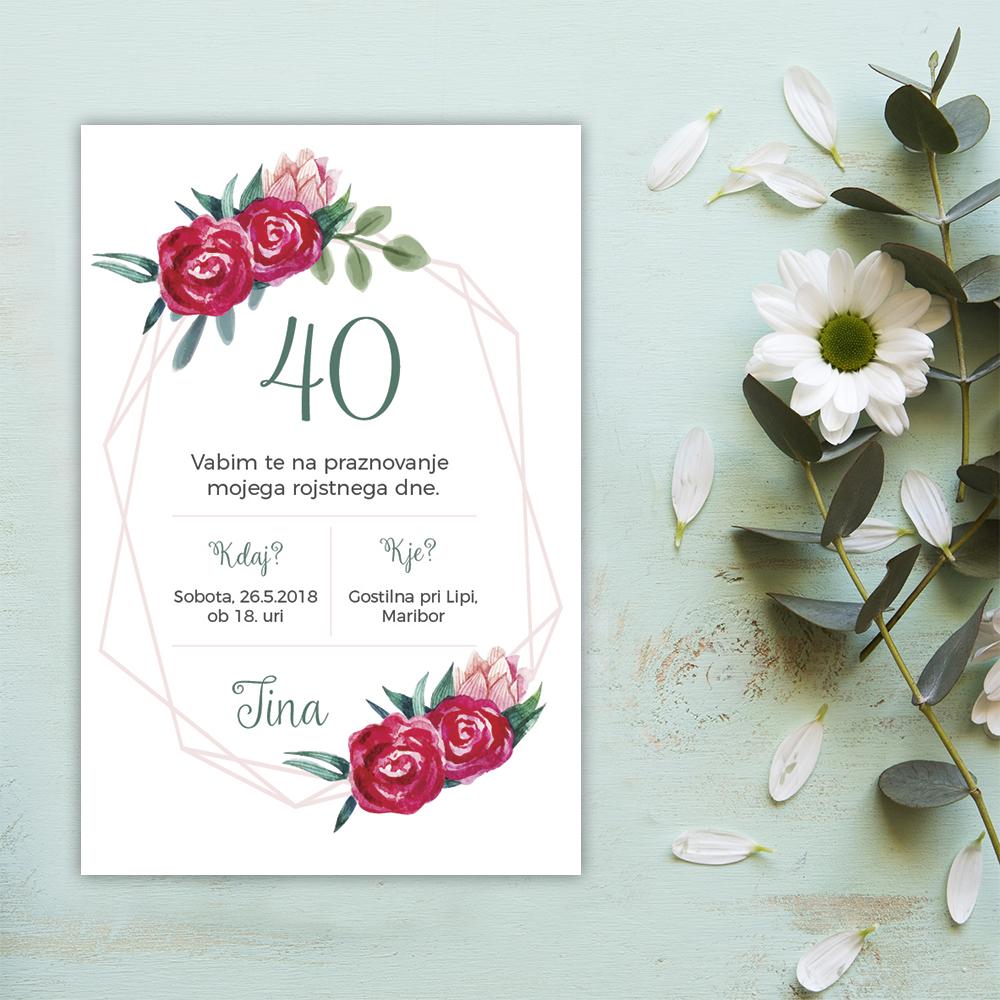 E-vabilo: 40. rojstni dan