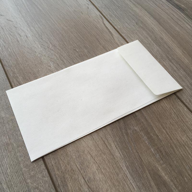 Kuverta iz svetlega Eko papirja 22x11cm
