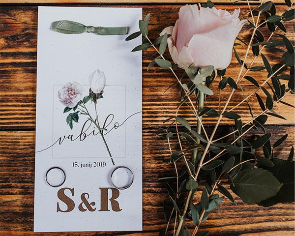 Dekoracija: poročno vabilo